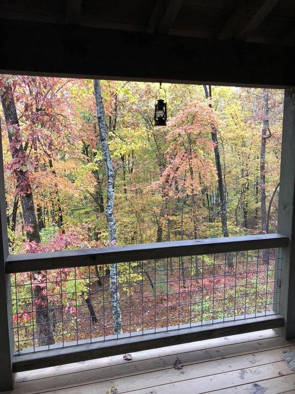 Vue d'automne du porche arrière