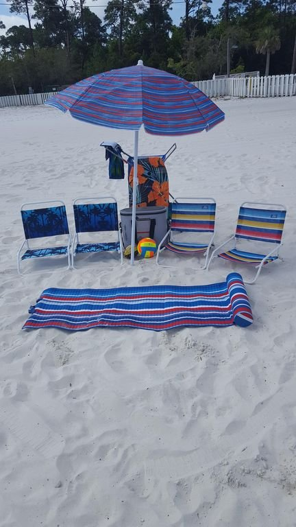 Beach equipment available for use (located in master closet)