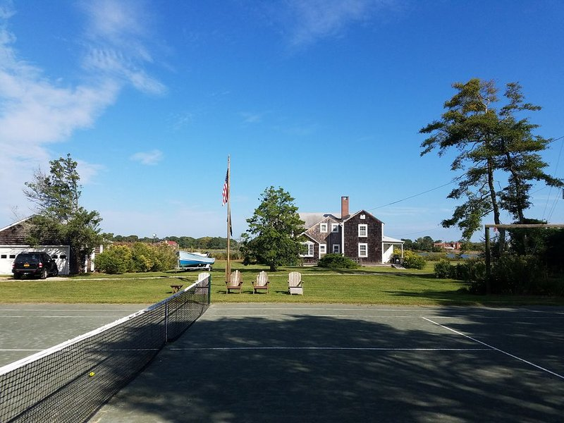 Westhampton quintessential waterfront 2 acres w/ tennis, dock., holiday rental in Westhampton