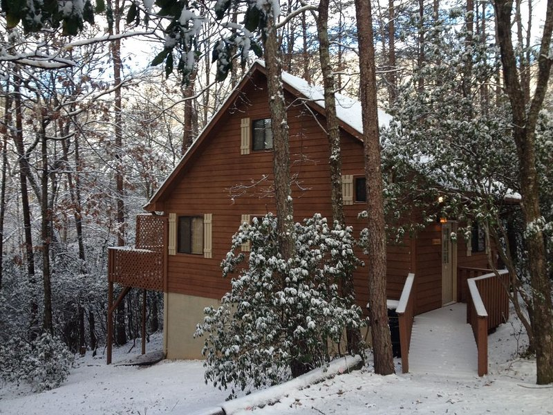 Unforgettable Secluded Cabin with Hot Tub and Maximum Privacy up to Four People, holiday rental in Sautee Nacoochee