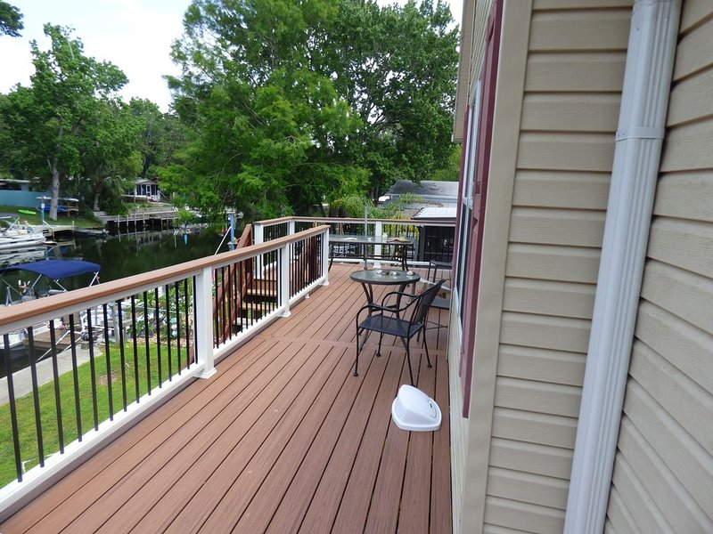 New composite decking and railings (front deck).