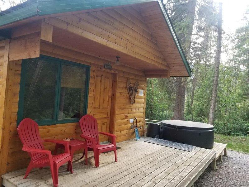 Beautiful Cabin with private hot tub in quiet setting, alquiler de vacaciones en Radium Hot Springs