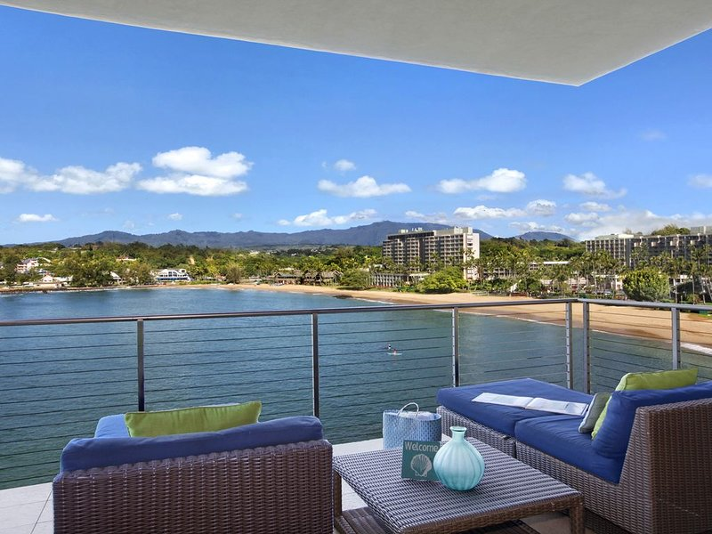 Striking *5*Star Luxury Suite Cliffside Villa on Kalapaki Bay, holiday rental in Lihue