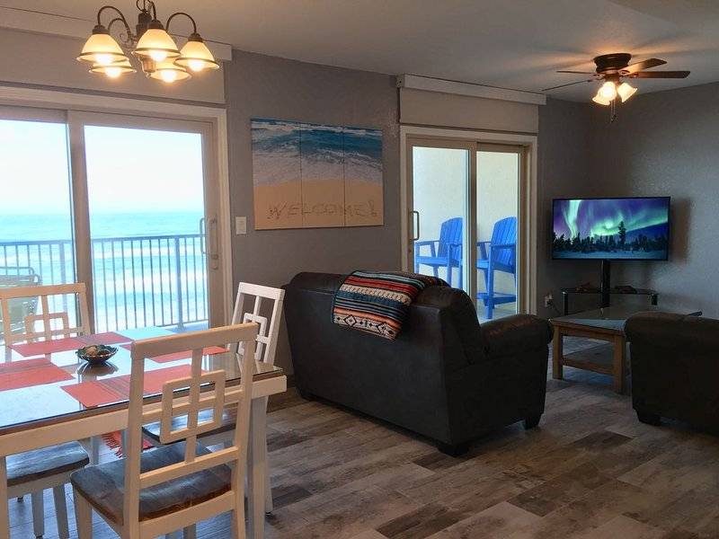 ESCAPE NOW to Bright, Newly Remodeled, Beach Front Condo w/Balcony, Pool, HotTub, vacation rental in Port Isabel