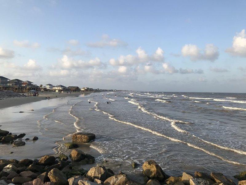 schöner Strand am Steg