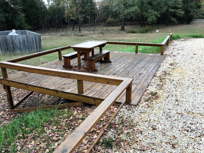 Private wood deck