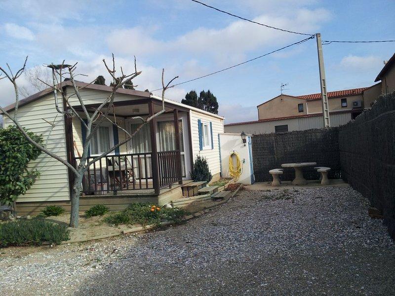 mobil home à la campagne dans la ville, alquiler de vacaciones en Cabestany