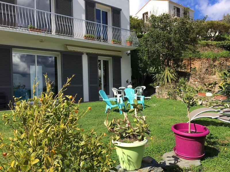 ERBALUNGA, Cap Corse: Studio tout confort Rez de Villa VUE MER, ACCÈS PISCINE, holiday rental in Ogliastro