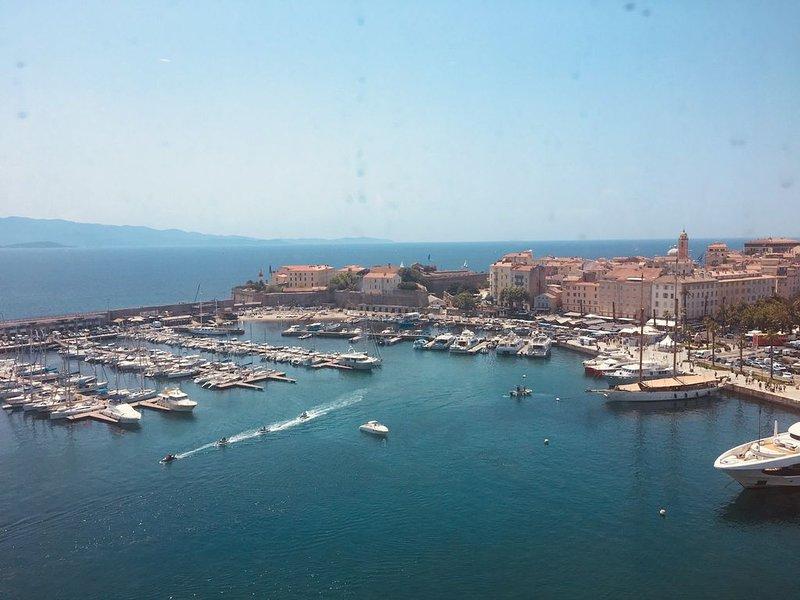 Port of Ajaccio_view of the sea