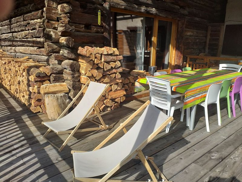 The terrace of the chalet
