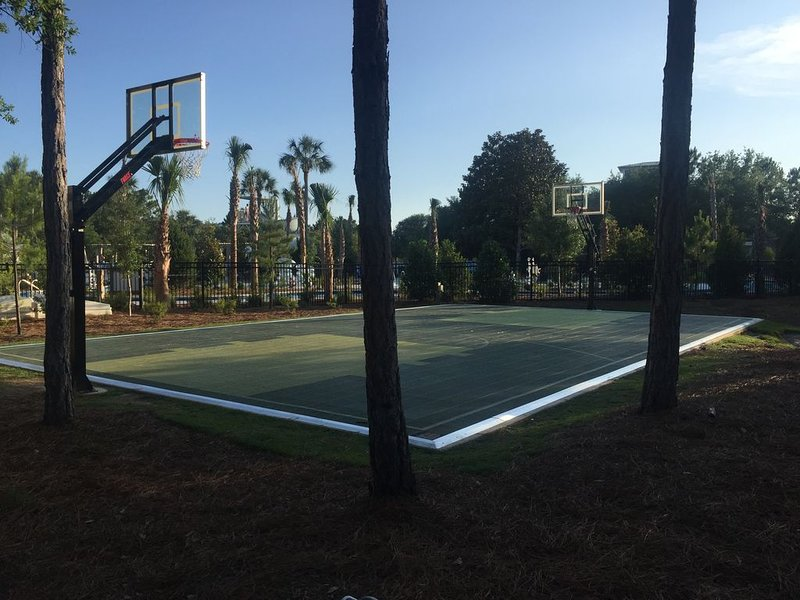 Basketball court 1/2 block from house at Camp Watercolor
