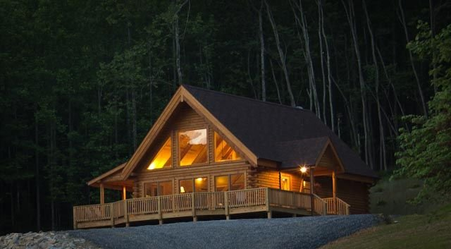 Meadow View Cabin, a new deluxe log home near Lexington VA., vacation rental in Buchanan
