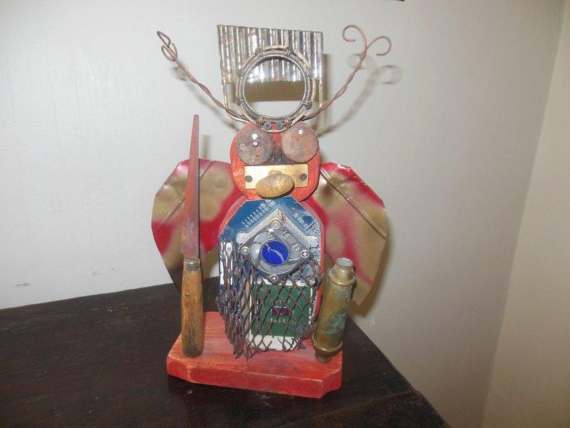 Nightstand Bug. I.E. Take Junk And Turn Into Art...