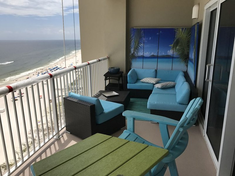 12th Fl.Remodel 2017, East Wrap Ard View, 2br, Slps7, alquiler de vacaciones en Orange Beach