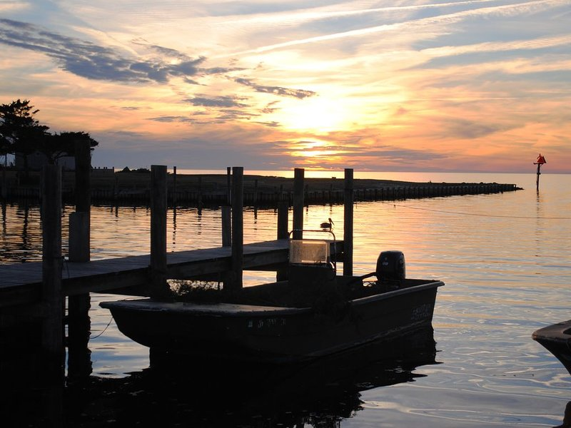 Sunset at Avon harbor on Pamlico Sound