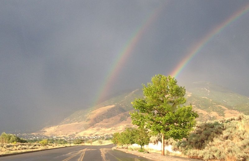 Double rainbow on the trails. Just another beautiful fall day in Draper.