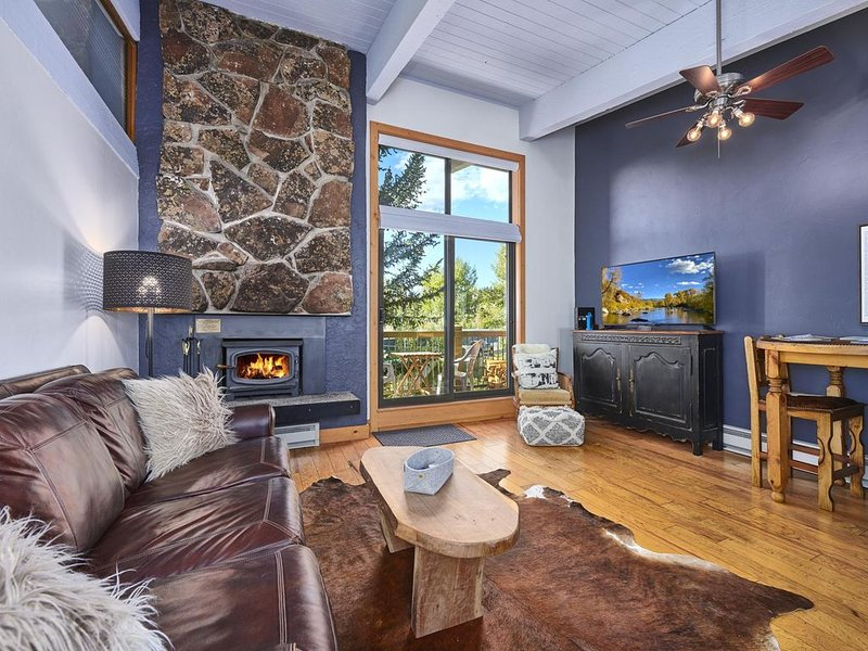✨LIFT TICKETS ✨ Ski-In/Out Mnt Side ⎮WIFI + Fireplace + Clubhouse⎮Winter Shuttle, alquiler vacacional en Steamboat Springs