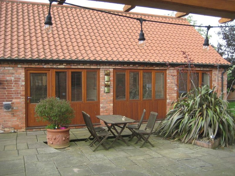 External view of the front of the cottage.