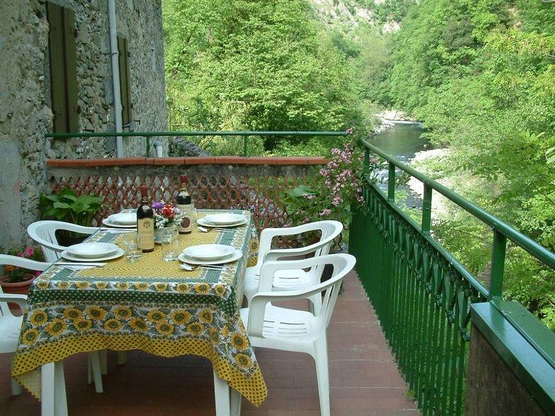Grande accogliente casa sul fiume Lima nel relax vicino a cittá d'arte., holiday rental in Bagni di Lucca