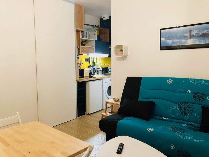 Studio cosy centre-ville de Vannes, holiday rental in Meucon