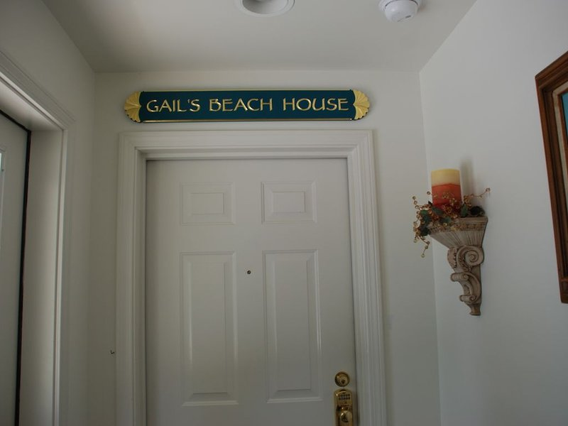 Front door entrance to  Gail's Beach House
