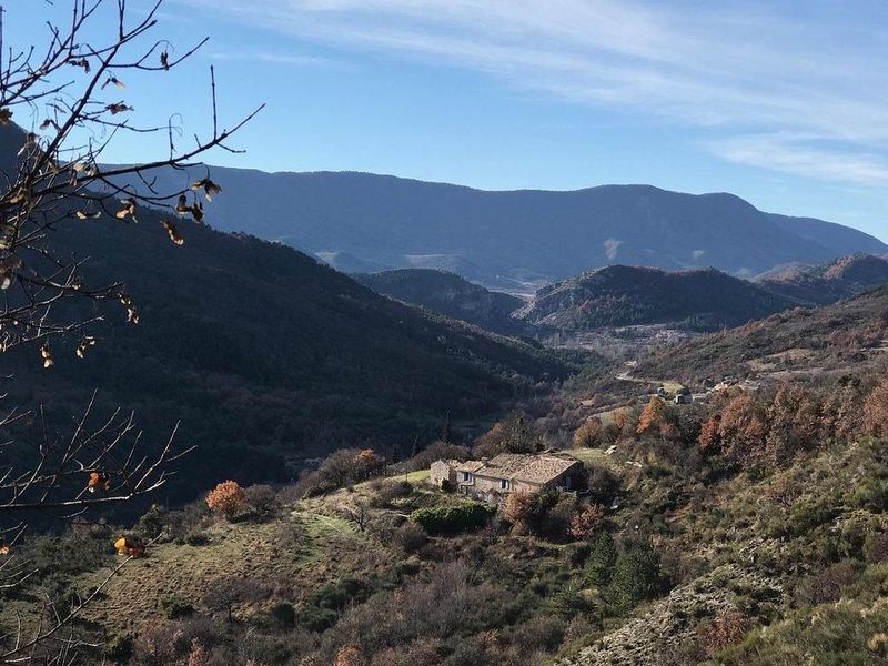 A fazenda de Hautes Granges em seu ambiente selvagem