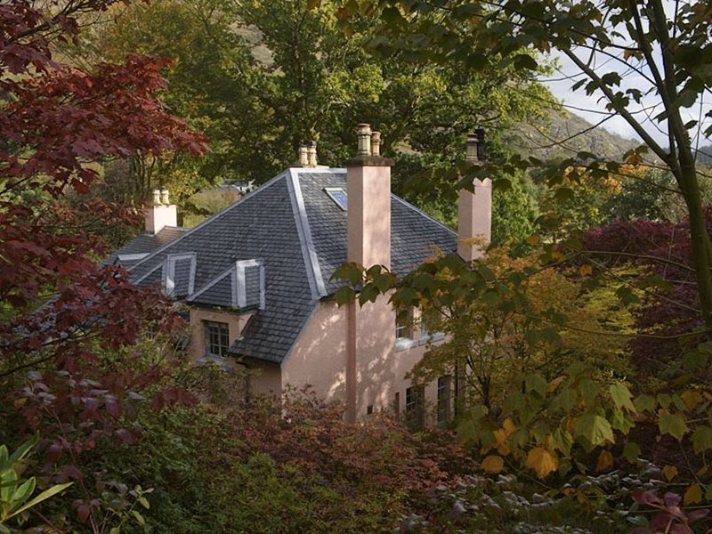 Garden House nestled in a woodland garden.