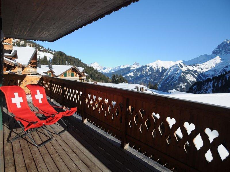 Les Crosets, Luxury, comfortable, ski in/out,180° views, 2 interior parking, location de vacances à Les Crosets