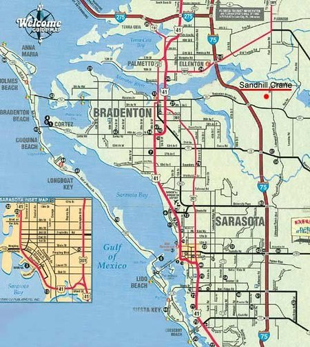 Sandhill Crane is located near the I-75 near the beach and interesting Sarasota