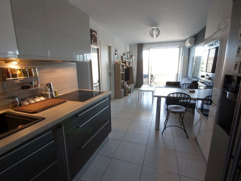 Standing T2 nine of 45 m2 with 15m2 quiet terrace, facing south. double garage, holiday rental in Six-Fours-les-Plages