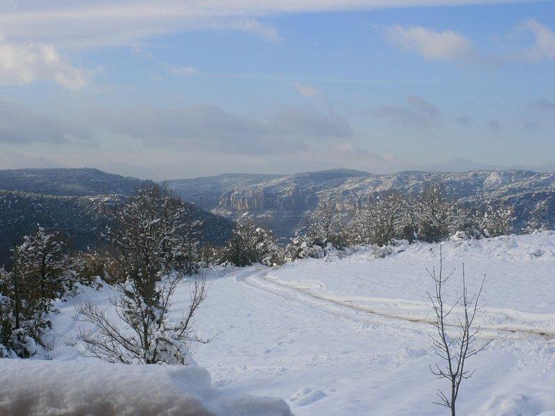 Vista oeste no inverno