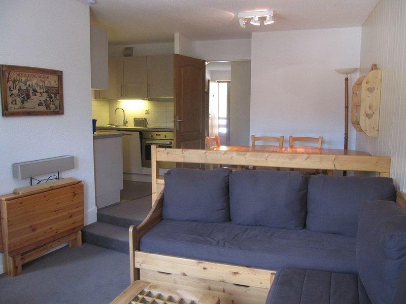 Appartement skis aux pieds - 4 à 6 couchages - Domaine La Tania Courchevel, location de vacances à Courchevel