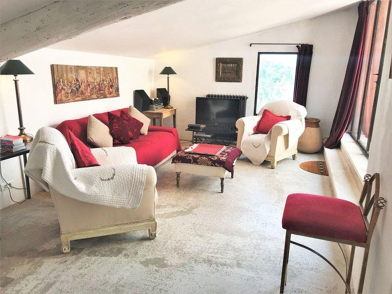 Maison sublime avec terrasse au cœur du village de Roussillon dans le Lubéron, holiday rental in Roussillon
