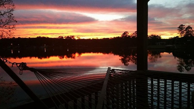 Our Sunset from the back deck.