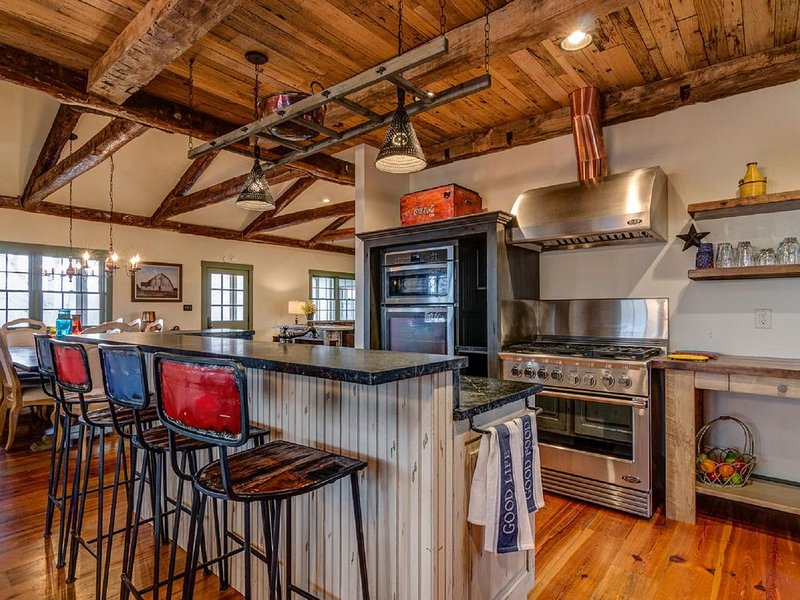 High End Mountain Home with Amazing Views! Chef's Kitchen. Huge Deck.15 min AVL, vacation rental in Fletcher
