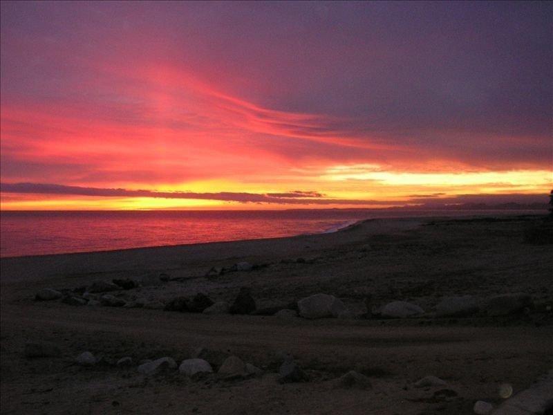 Sunrise over the Sea of Cortez from the veranda at Casa de Las Palmas