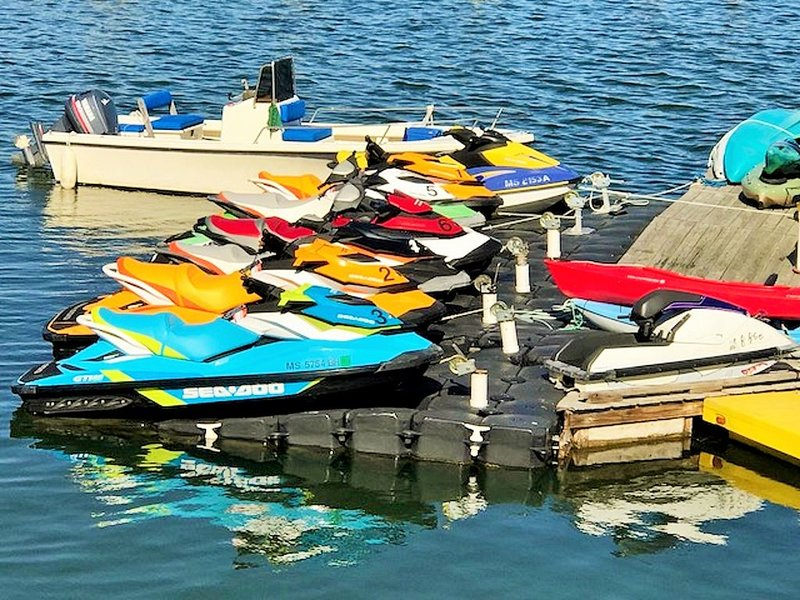 Jet ski's for rent at Plymouth harbor
