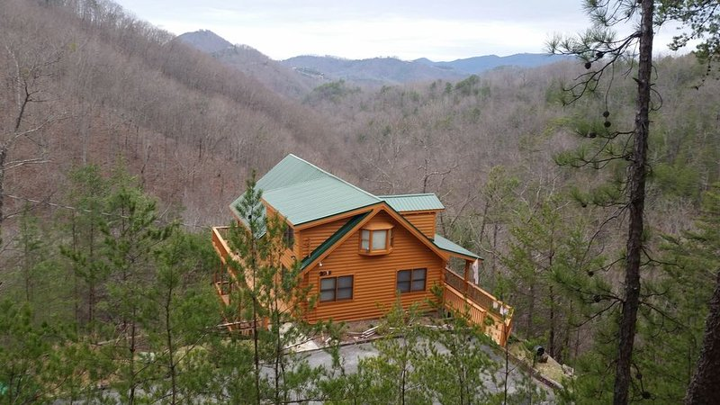 Breath-Taking MTN Views Log Cabin At Its Best, Minutes to Pigeon Forge, FirePit, holiday rental in Wears Valley