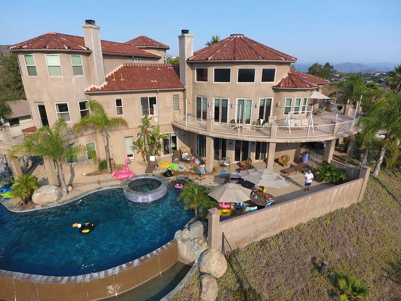 Three spacious levels of living space with a gorgeous salt water pool & slide