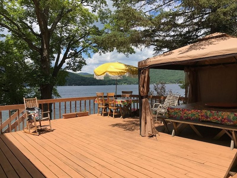 Lake George  Water Front Cabin Spectacular Views, holiday rental in Orwell