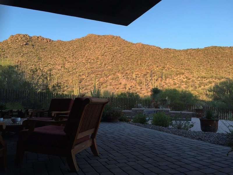 View of canyon ridge from patio