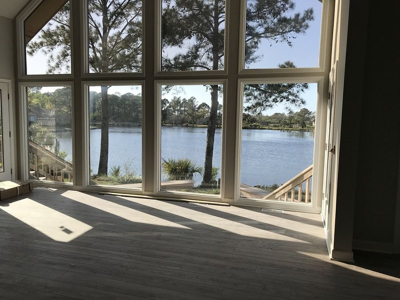 We gutted the entire home  to optimize the views from every room