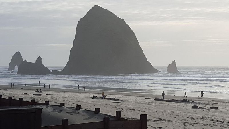 Spectacular Cannon Beach Ocean Front Home Steps to Haystack Rock and Midtown, location de vacances à Cannon Beach