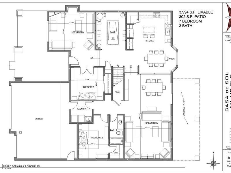 Casa de Sol - 24 hour self check in - 7 bedroom - Pool/Hot, holiday rental in Maricopa