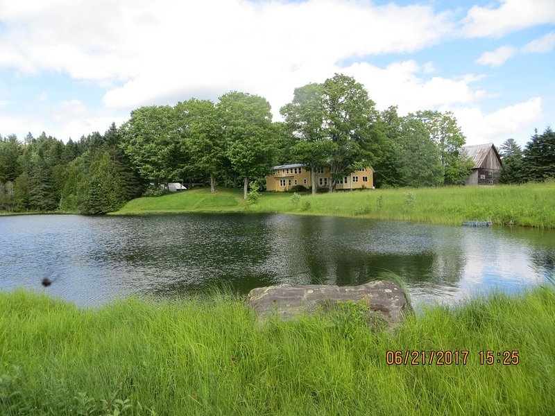 450 Acre renovated 1840's 3 or 4 bedroom, 3 1/2 bath farmhouse, with large pond, vacation rental in Glover