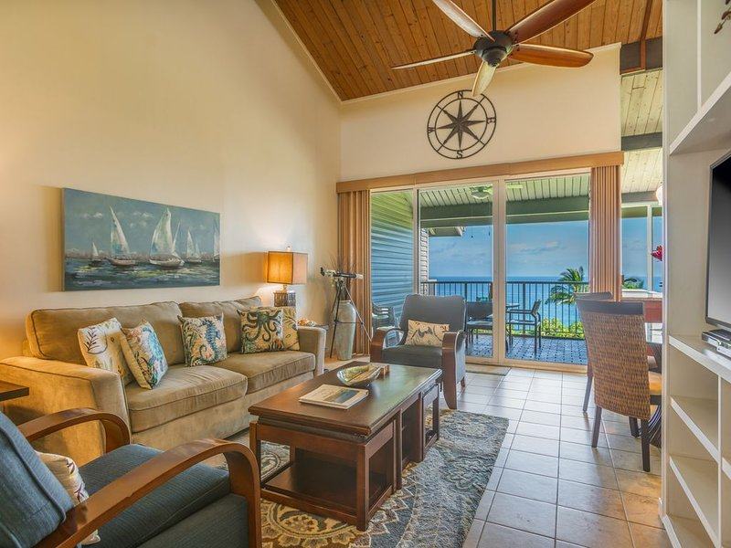 Stunning Ocean View--an Oasis Of Calm In Today's Hectic World., vacation rental in Princeville