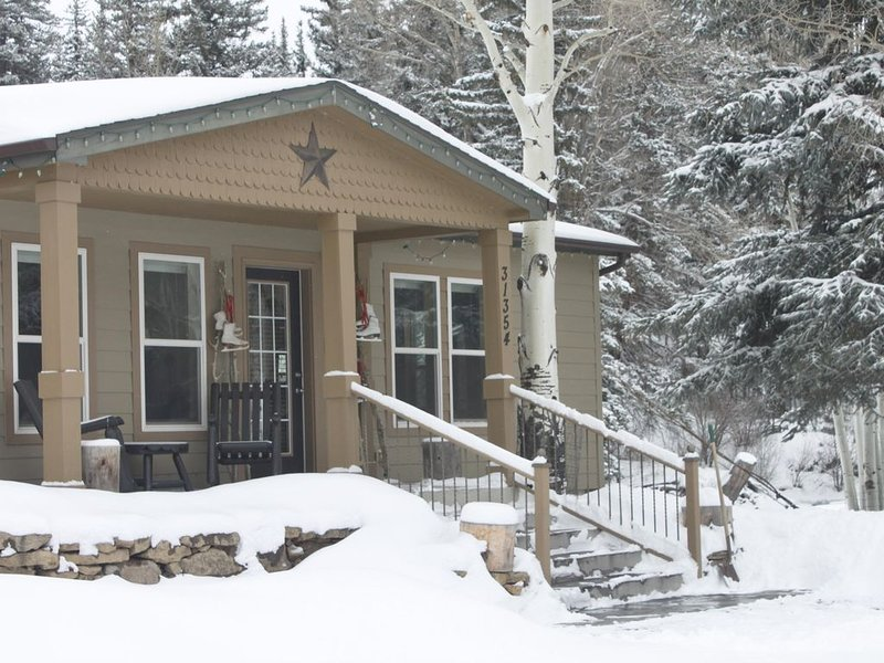 COTTAGE ON THE CREEK. Private. Sleeps four. 18 Miles to Wolf Creek Ski Area!, alquiler de vacaciones en South Fork