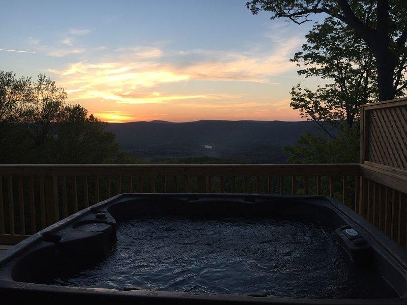 Hot tub at Sunset.