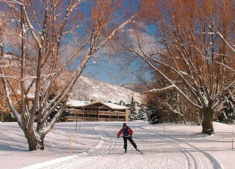 Cross country skiing right out the back door!