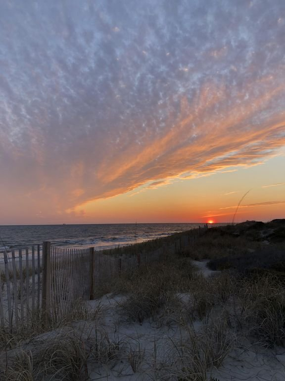Unfiltered sunset viewed from the Shoals Club boardwalk